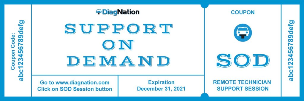 DiagNation Support On Demand (SOD) Session Coupon